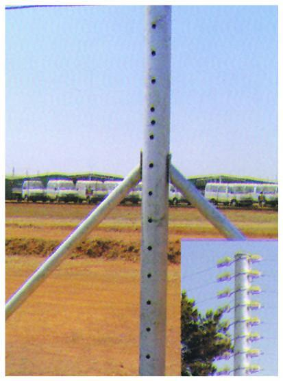 Security Inline Posts & Stays - JVA Technologies - Electric Fencing - Agricultural Fencing - Equine Fencing - Security Fencing