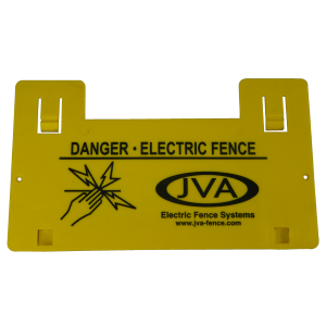 JVA Electric Fence Warning Sign x 5 - JVA Technologies - Electric Fencing - Agricultural Fencing - Equine Fencing - Security Fencing