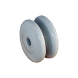Porcelain Bobbin Insulator with 225mm Wire Offset Bracket (25 each) - JVA Technologies - Electric Fencing - Agricultural Fencing - Equine Fencing - Security Fencing