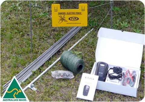 JVA PET Fence Kit: Portable Electric Fence Energiser (0.11J 1 km) PLUS hardware - JVA Technologies - Electric Fencing - Agricultural Fencing - Equine Fencing - Security Fencing