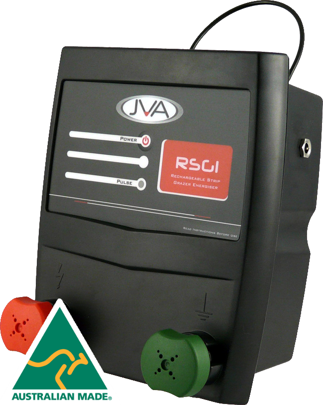 JVA RSG1 Portable Rechargeable Electric Fence Energiser - 0.1 Joule, 1 km - JVA Technologies - Electric Fencing - Agricultural Fencing - Equine Fencing - Security Fencing