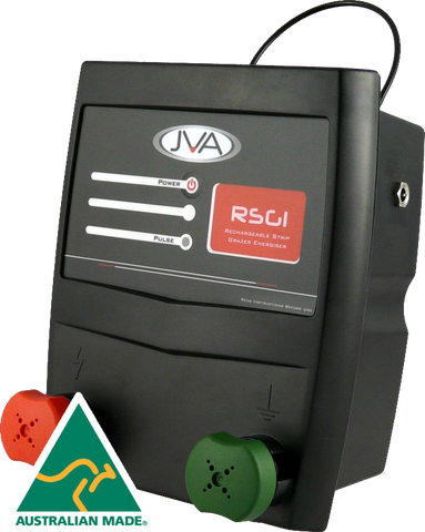 RSG1 Portable Rechargeable Electric Fence Energiser - 0.1 Joule, 1 km - JVA Technologies - Electric Fencing - Agricultural Fencing - Equine Fencing - Security Fencing