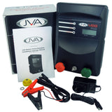 JVA MB8 Mains/Battery Electric Fence IP Energiser + 100W Solar Kit - JVA Technologies - Electric Fencing - Agricultural Fencing - Equine Fencing - Security Fencing