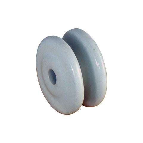 Electric Fence Porcelain Bobbin Insulator (25 pack), Fire-Proof! - JVA Technologies - Electric Fencing - Agricultural Fencing - Equine Fencing - Security Fencing