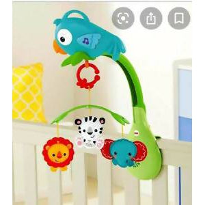 Fisher Price Rainforest Friends 3 in 1 Musicial Mobile