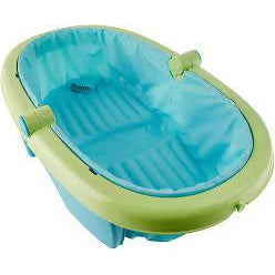 SUMMER INFANT FOLD-AWAY BABY BATH, GREEN - NEWBORN TO TODDLER