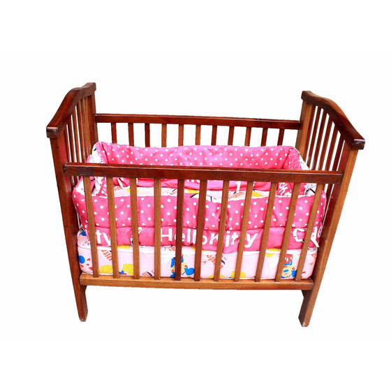 Baby Crib With Mattress &Bed Bumper