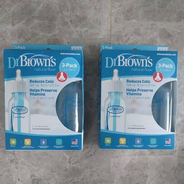 Dr Browns Bottles 3 Sets With Pack - Cuddlecircle