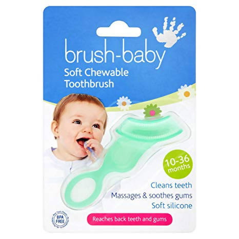 Brush Baby Soft Chewable Toothbrush [Contains 6 Units] - Cuddlecircle