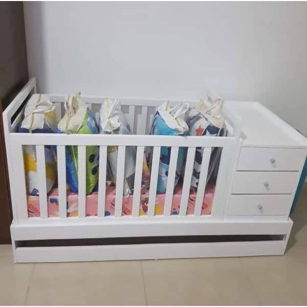 Baby Crib With Drawers and Mattress - Cuddlecircle