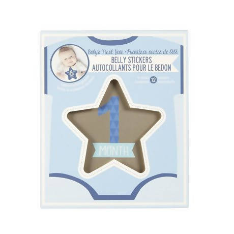 Stepping Stones Boy's Baby's First Year Belly Stickers