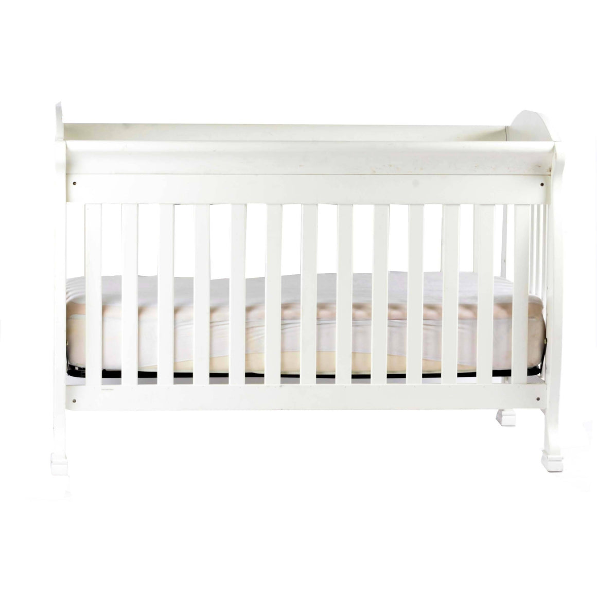 WHITE CONVERTIBLE CRIB WITH MATTRESS - Cuddlecircle