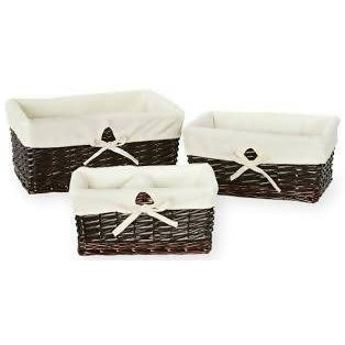 Wicker Storage Baskets 3 Set
