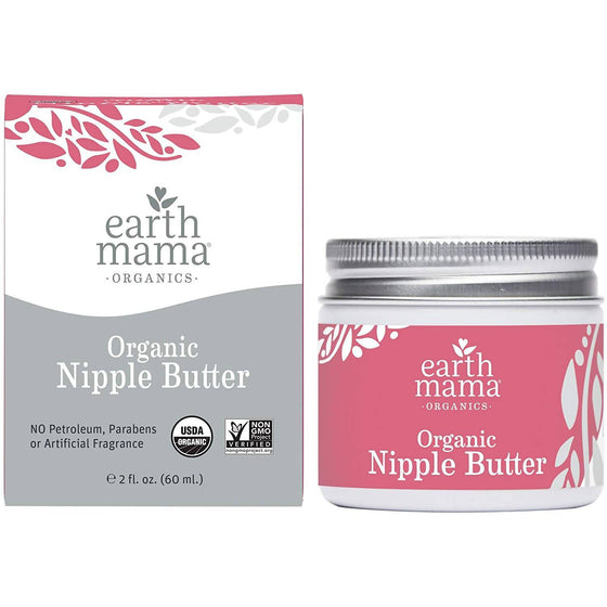 Earth Mama Organic Nipple Butter for Breastfeeding and Dry Skin