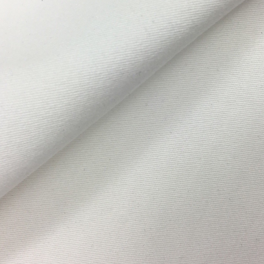 Organic Cotton Spandex Twill Weave (White)