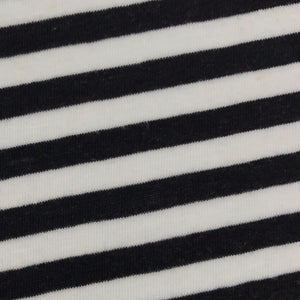 Tencel Linen Single Jersey (Black and White striped)