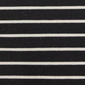 Cotton Modal Nylon Spandex (Black and White striped)