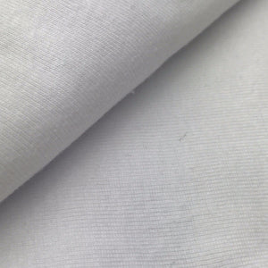 Organic Cotton Rib (White)
