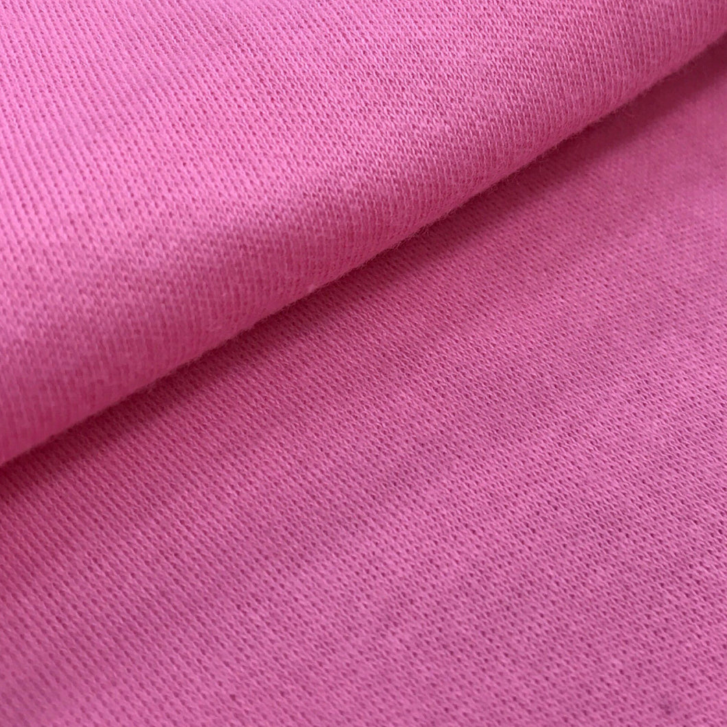 Organic Cotton Interlock (Sea Green, Hot pink )