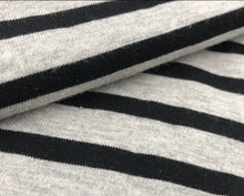 Organic Cotton Stripe Jersey (Red x White striped, Navy x White striped, Grey x White striped, Black x Grey striped)
