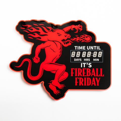 Fireball Friday Countdown Clock