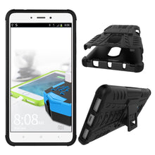 Chevron Back Cover for Mi Redmi Note 4  (Space Black, Hybrid Shock Proof)