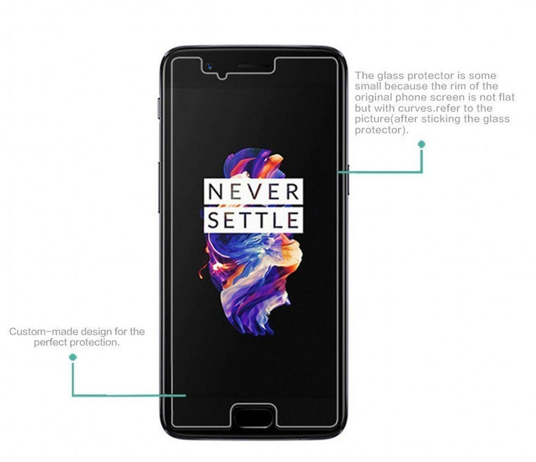 Chevron Tempered Glass Screen Protector Guard For OnePlus 5