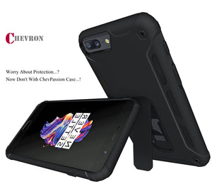 Chevron Shock Proof Passion Back Cover Case For OnePlus 5 - Black