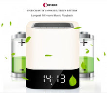 Chevron Xtreme 5 in 1 Bluetooth Speaker with Bedside Lamp, MP3 Player, USB, AUX, Alarm Clock, Touch Sensor, Support SD Card, Calls, Quality Sound