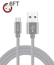 Chevron 2.4A Fast Charge Micro USB 6 Feet Braided Data Cable For All Android Devices