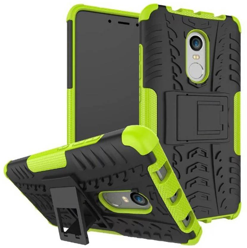 Chevron Back Cover for Mi Redmi Note 4 (Green, Hybrid Shock Proof)