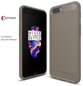 Chevron Carbon Fibre Back Cover For OnePlus 5