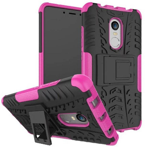 Chevron Back Cover for Mi Redmi Note 4 (Pink, Hybrid Shock Proof)