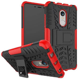 Chevron Back Cover for Mi Redmi Note 4 (Red, Hybrid Shock Proof)
