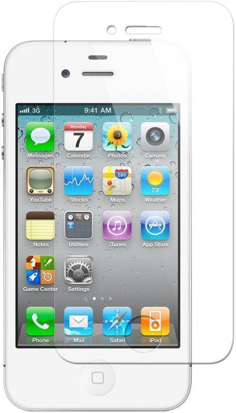 Chevron Tempered Glass Screen Protector Guard For Apple iPhone 4S