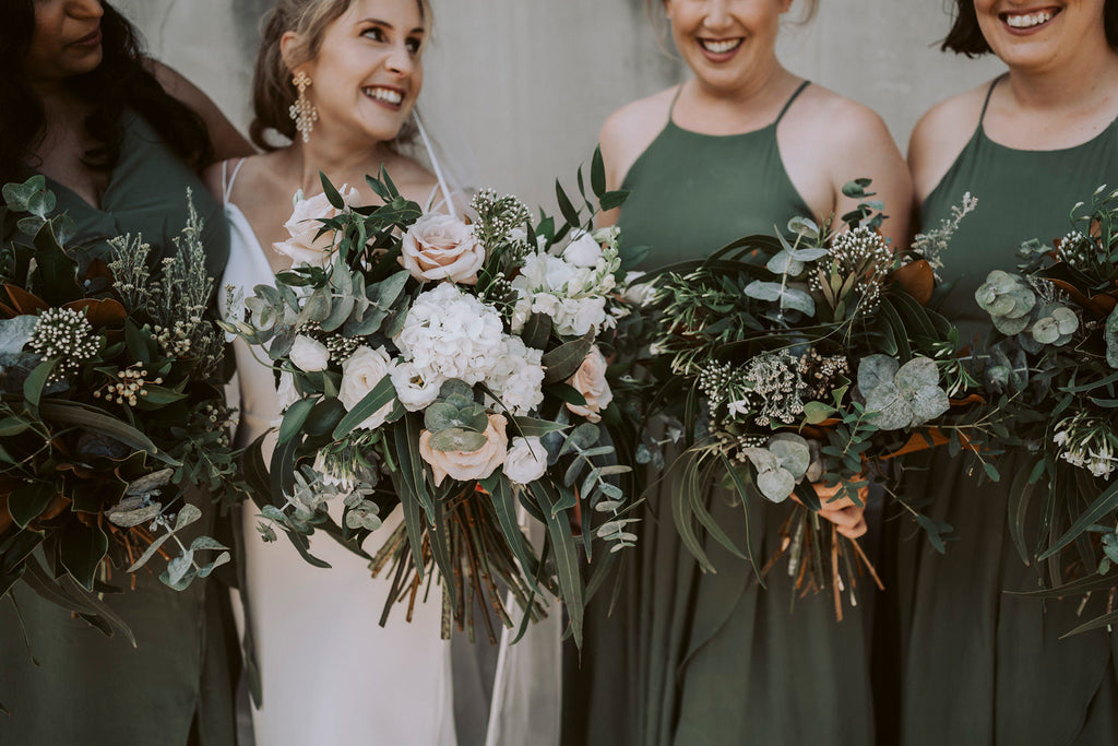 The Wild Flower Weddings - Madeleine + Ankit - Bridesmaids Bouquets