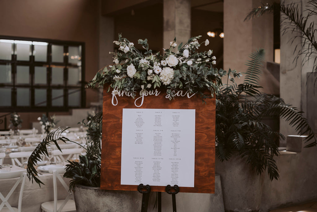 The Wild Flower Weddings - Welcome Sign Floral Arrangement
