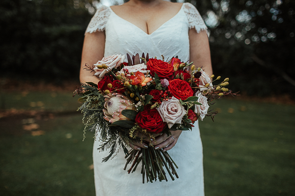The Wild Flower Weddings-Kylie-Bride with Bouquet