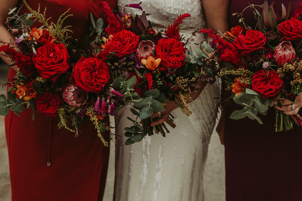 The Wild Flower Weddings - Noon and Craig - Bridesmaids Bouquets