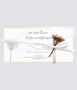 "The ""Wild Flower Gift Certificate"""
