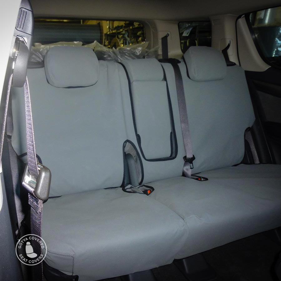 Canvas seat covers rear seats