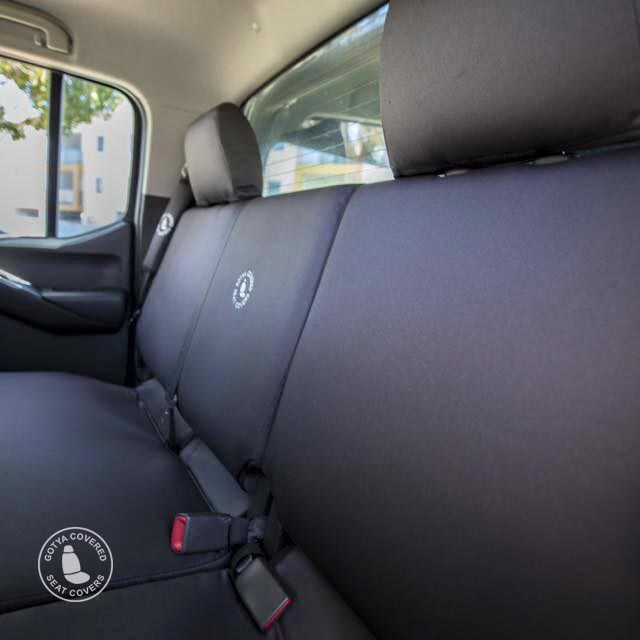 Charcoal grey denim seat covers rears