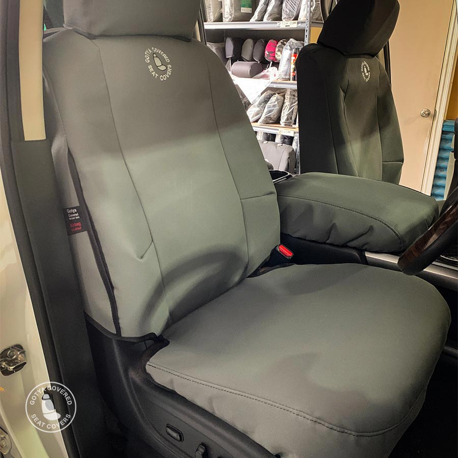 Foam backed canvas seat covers driver seat
