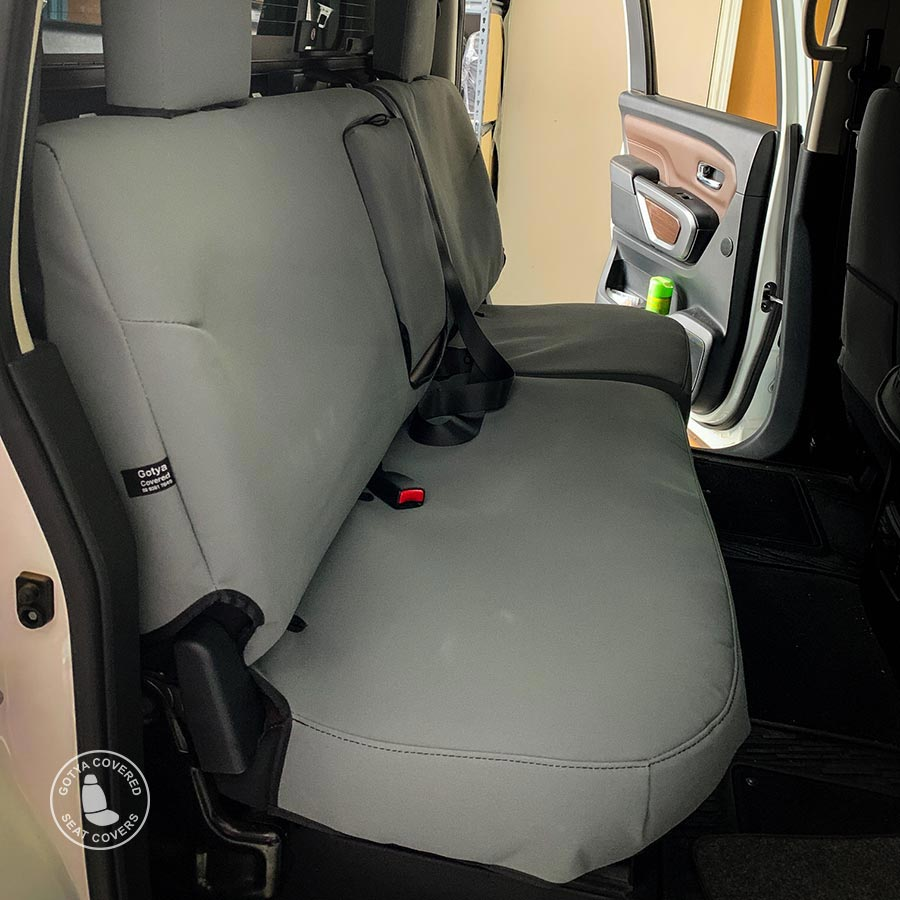Foam backed canvas seat covers rears