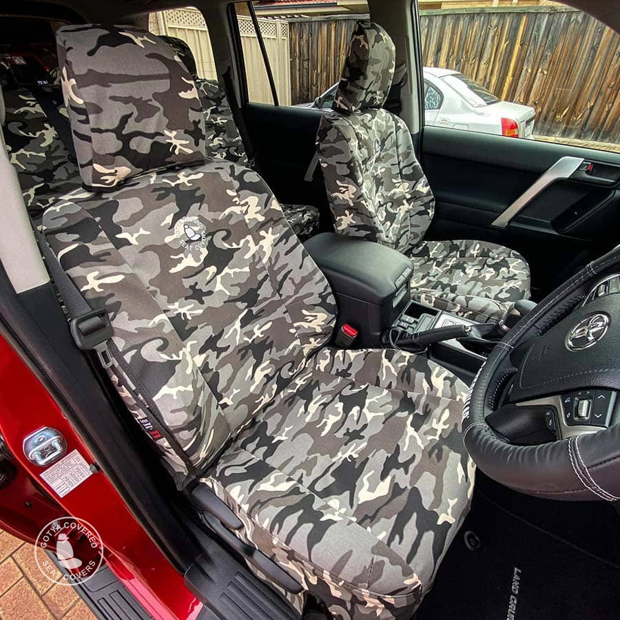 Grey camo seat covers fronts