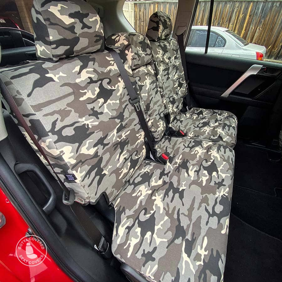 Grey camo seat covers rears
