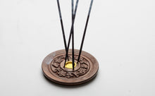 Wooden Chakrasana Incense Cone Burner