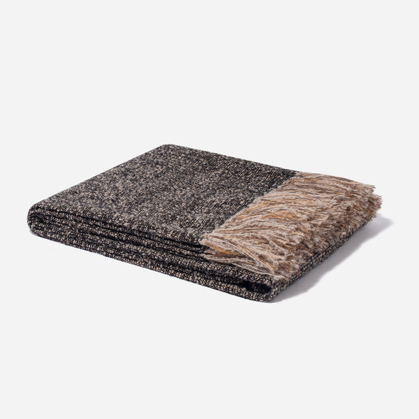 Alpaca with Lurex Throw Black