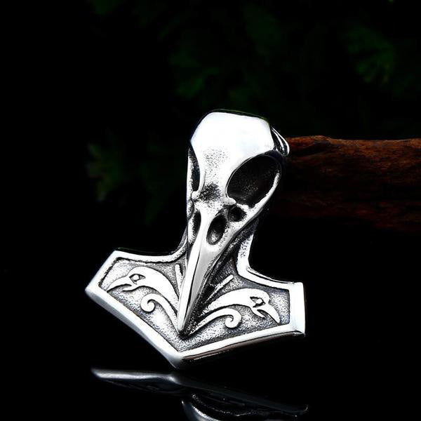 Muninn's Honor™️ - Stainless Steel Viking Raven Necklace