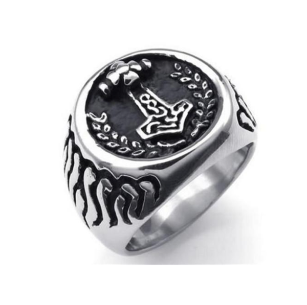 The Return of Mjölnir™ - Thor's Hammer Steel Viking Ring